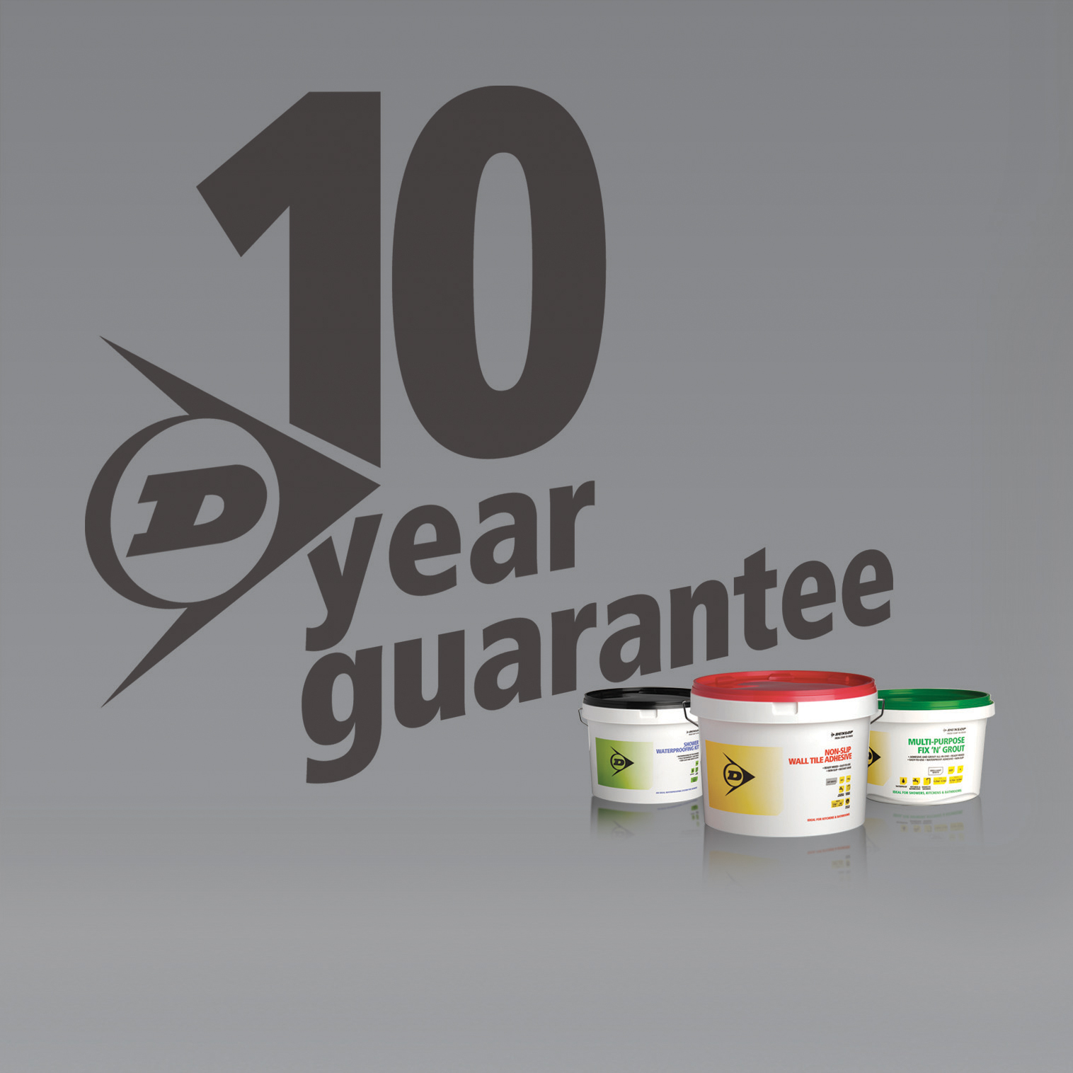 Click here to download a 300dpi jpeg of the Dunlop Adhesives ten year guarantee artwork