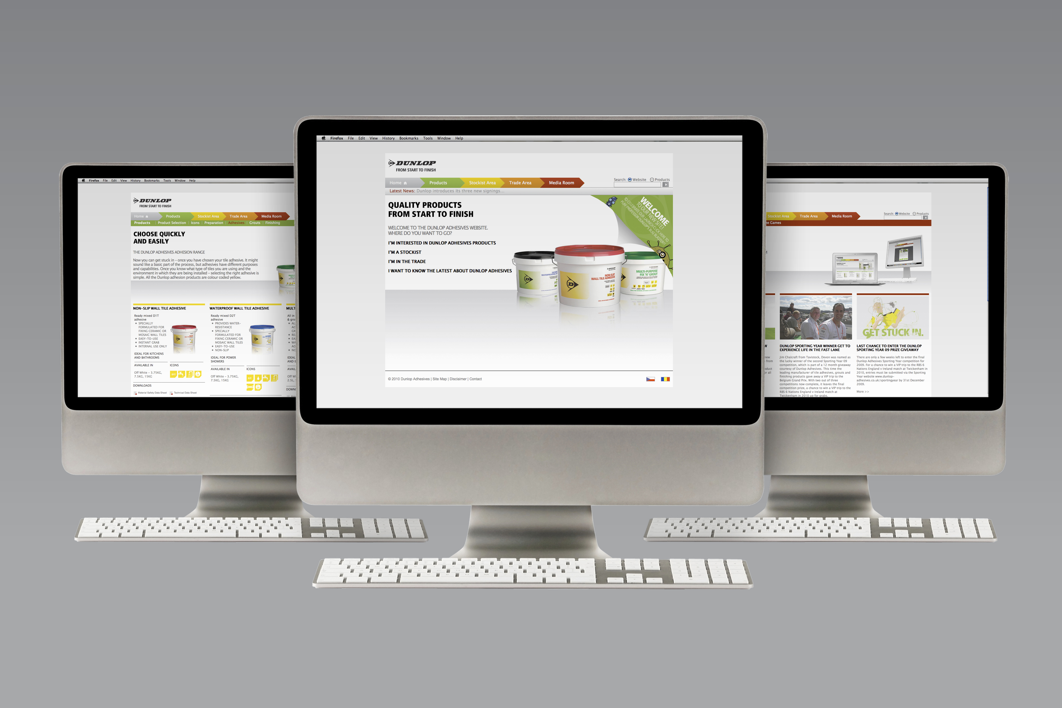 Dunlop Adhesives new website looks set to help and support end users with their own dedicated section