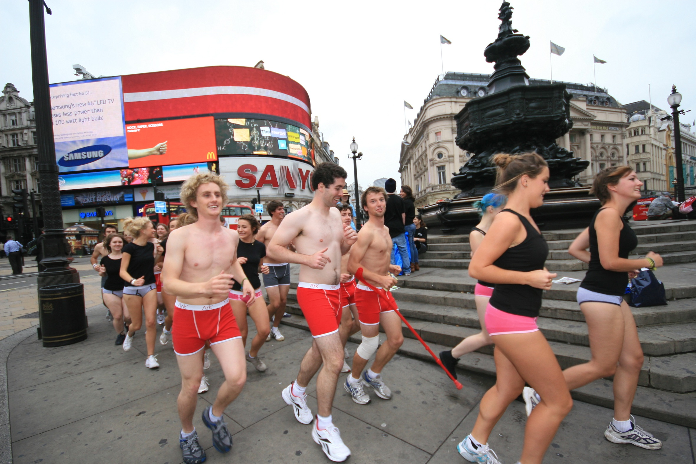 50 strip in central London for new kindness movement