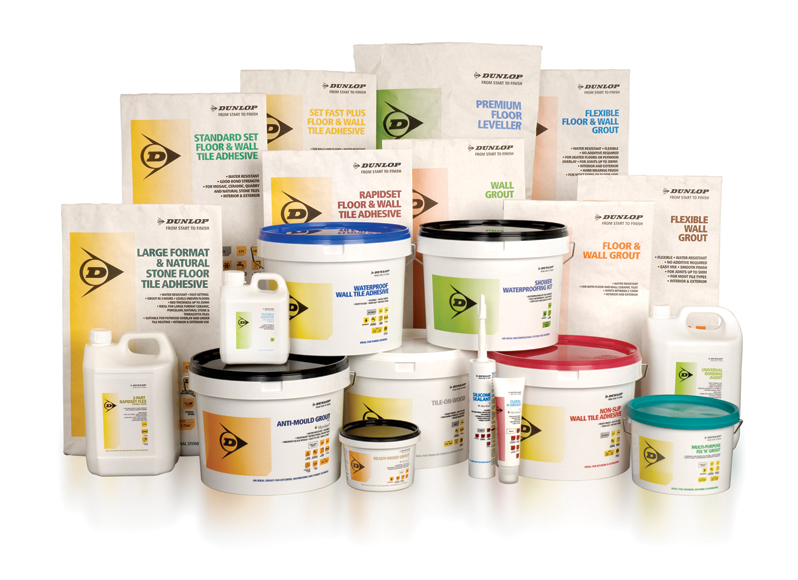 Dunlop Adhesives stops traffic with colour coded packaging