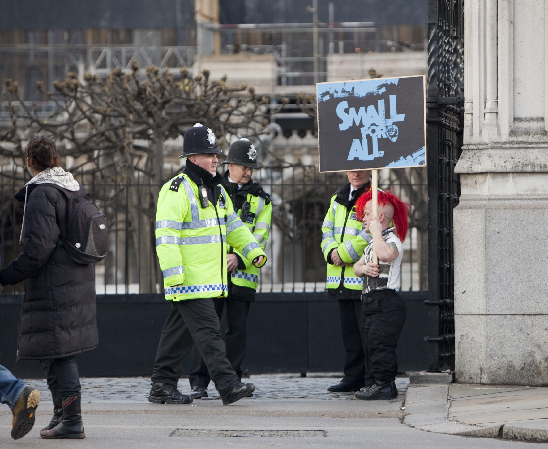 BrewDog's dwarf protest caused a scene at Westminster
