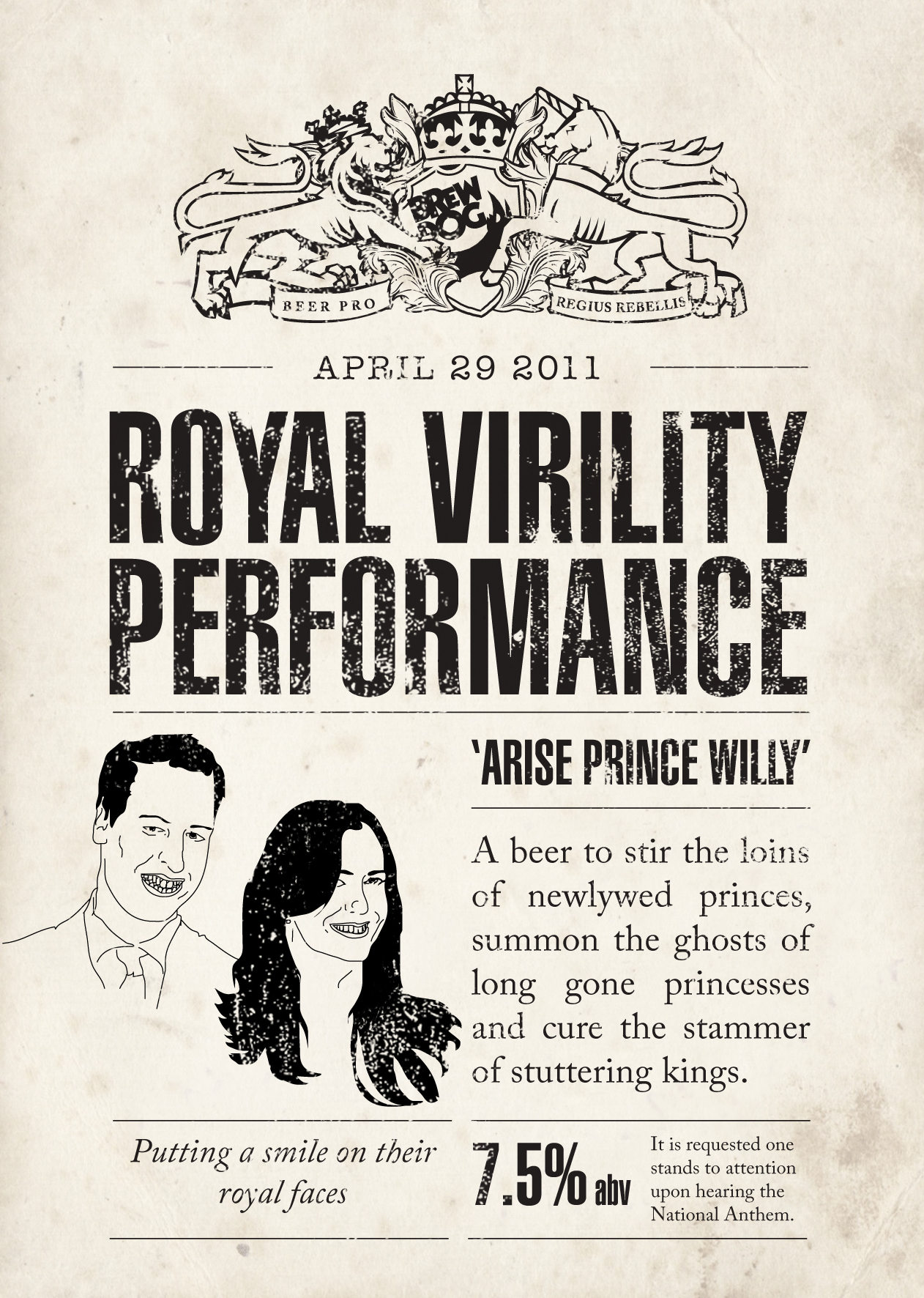 The Royal Virility Performance label