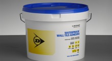 Dunlop's Waterproof Wall Tile Adhesive is 'hotting up' this summer