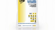Dunlop sets the standard…with its Standard Set Plus Floor and Wall Tile Adhesive