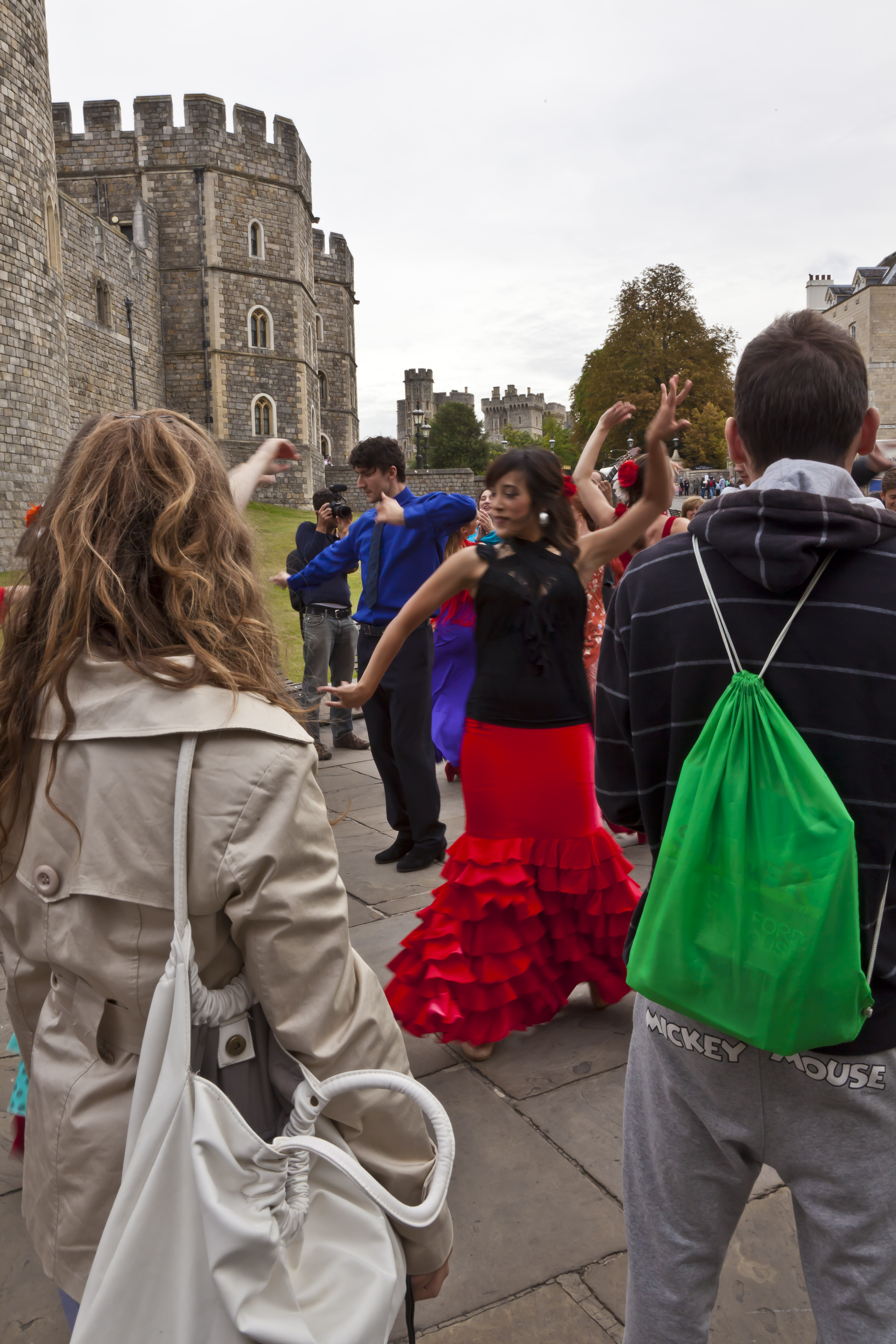 Flashmob by the castle