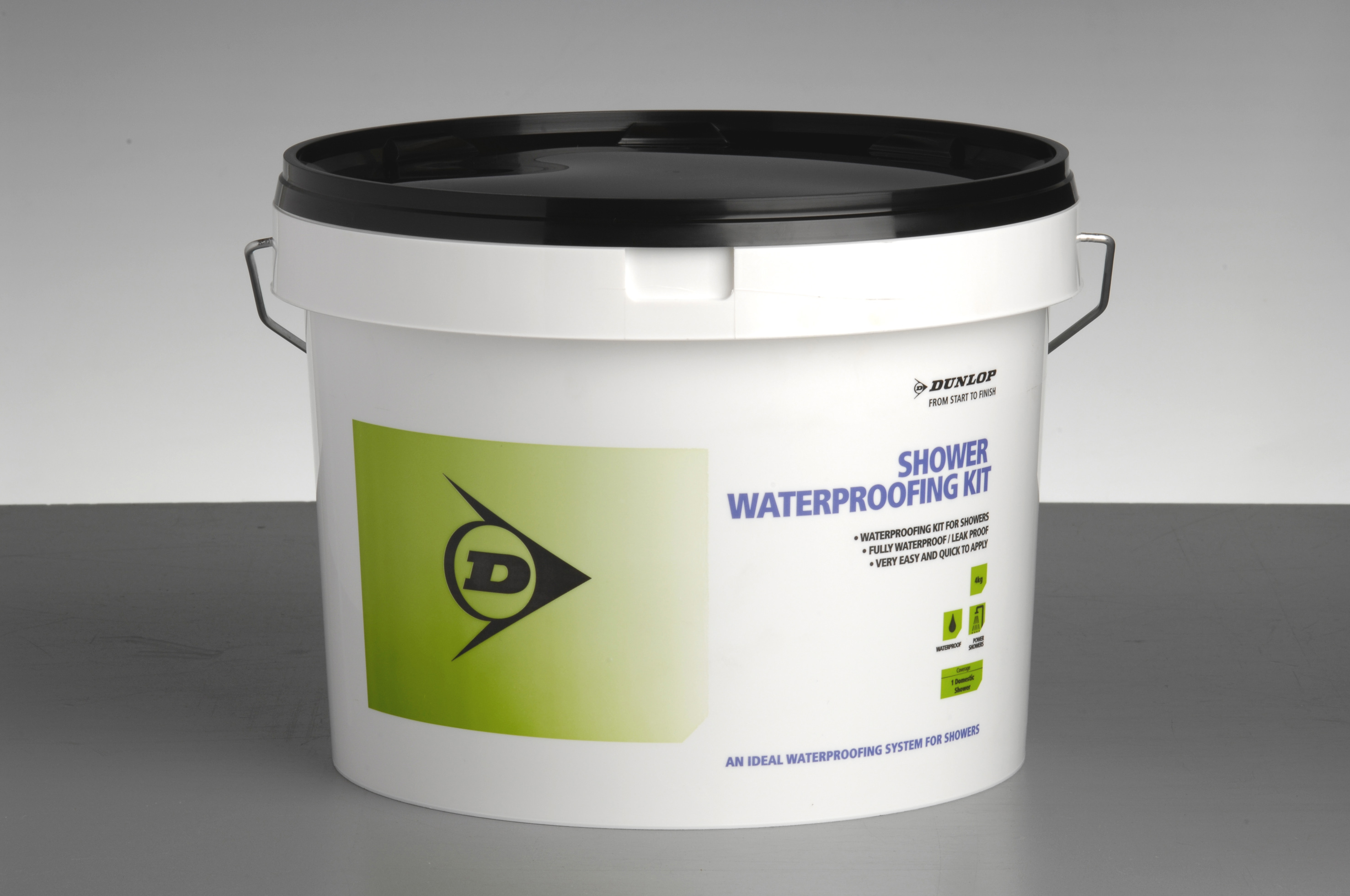 Various tanking kits are available, including the Dunlop Shower Waterproofing Kit, to prime, seal and protect.