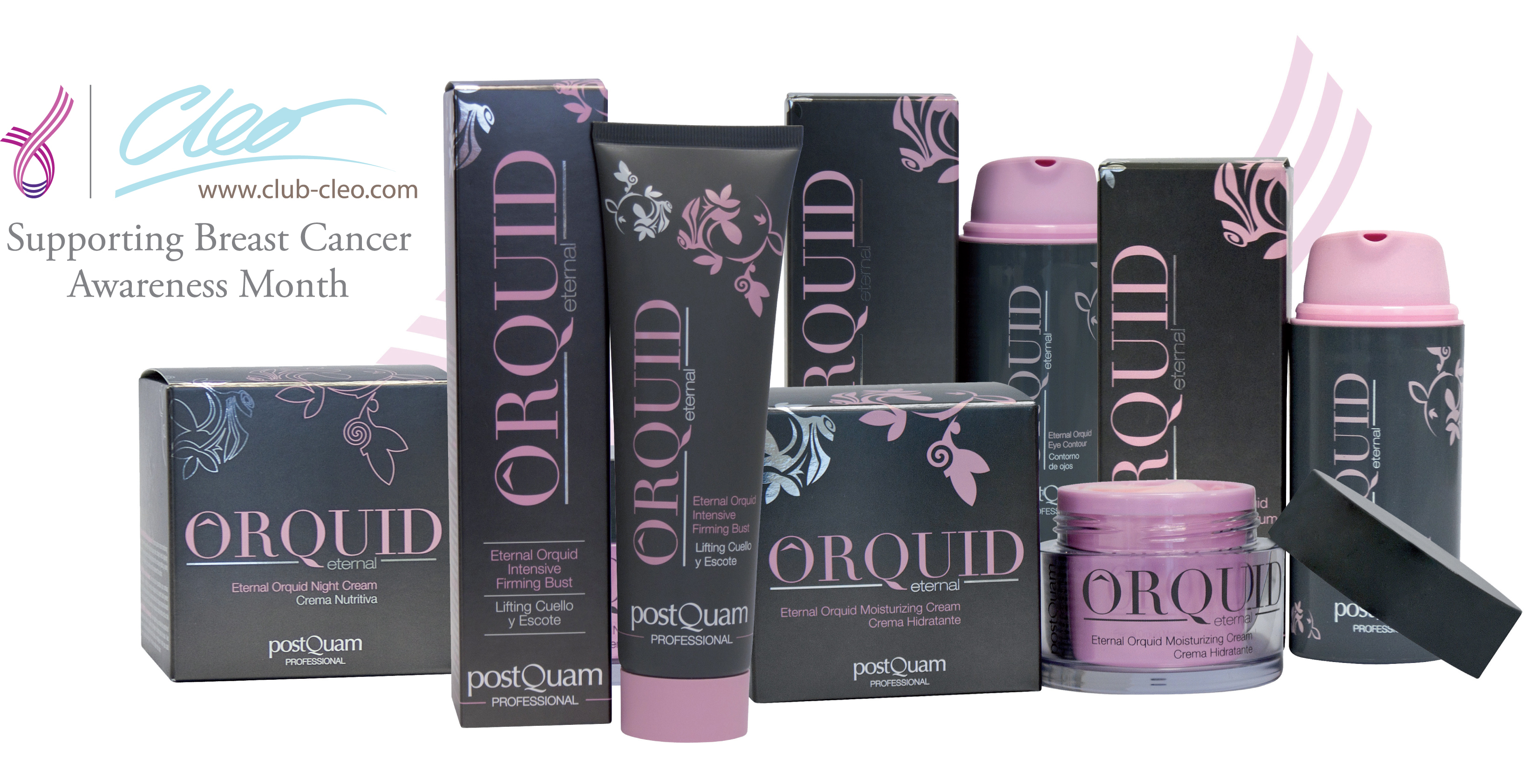 Club Cleo is donating 25% of all sales from the Orquid Eternal Skincare Range throughout October to Breast Cancer Care
