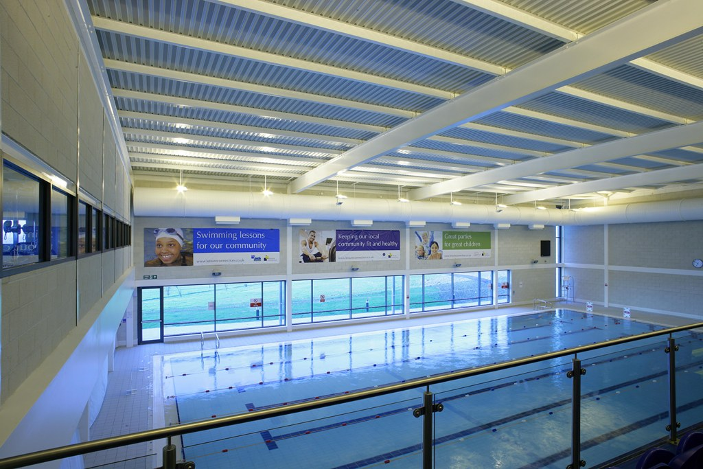 The lessons aim to help older people learn to swim and increase their confidence in the water while making friends and staying fit and healthy