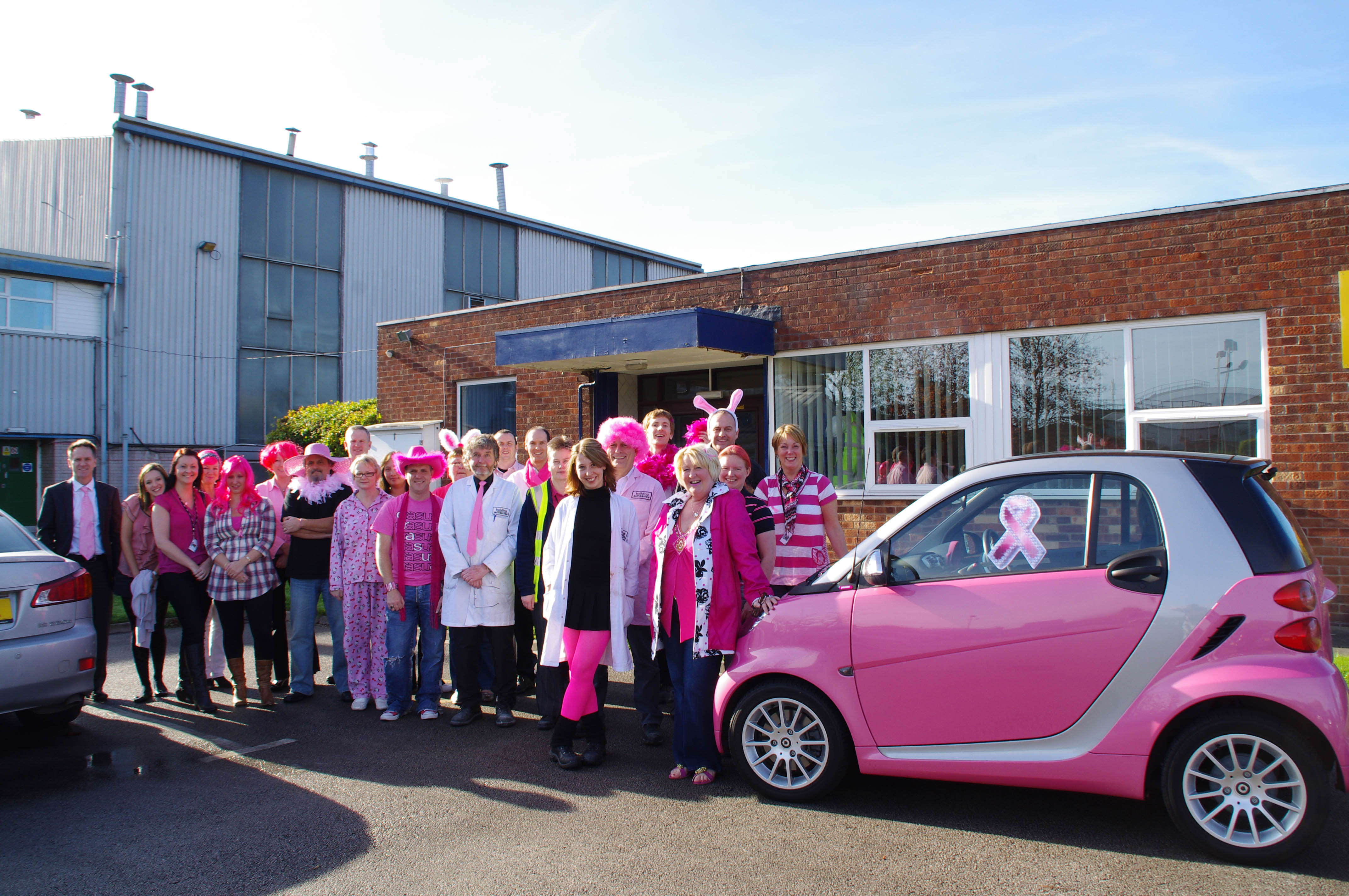 Building Adhesives raises £410 for Breast Cancer Care