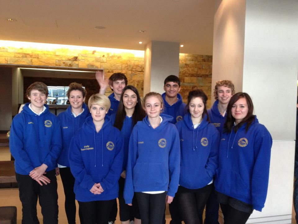 The Young Games Makers, a team made up of 15 to 17 year old swimmers, who train at Stoke Mandeville Stadium in Aylesbury.