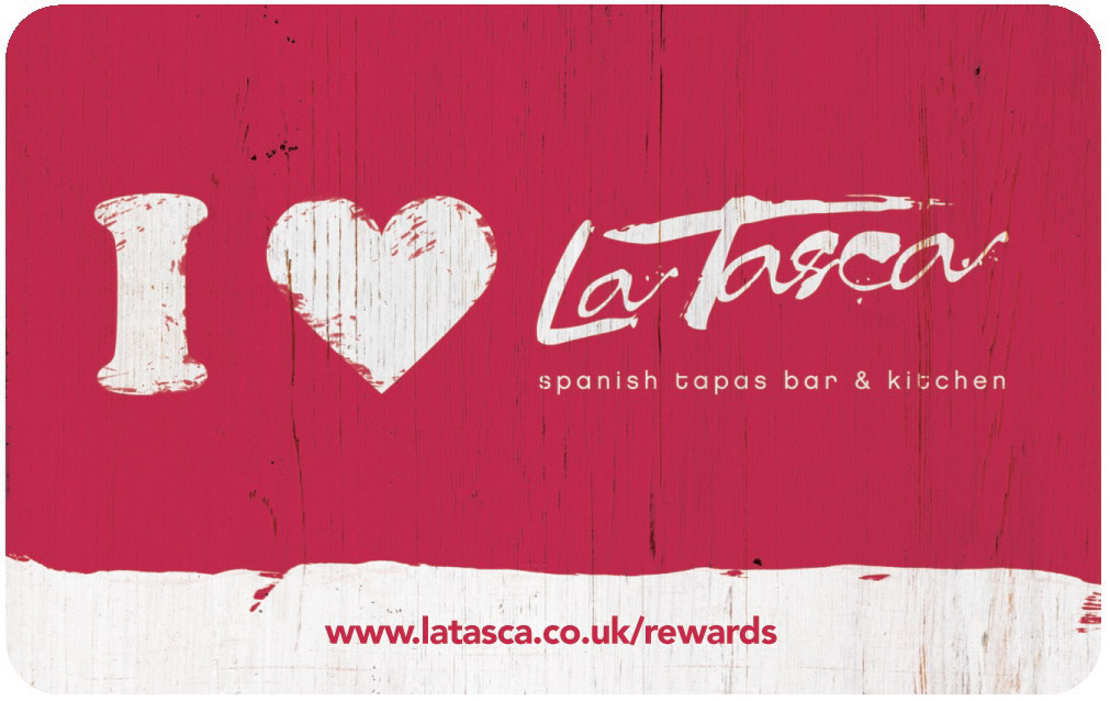 The La Tasca loyalty card can be picked up in the restaurant or ordered online