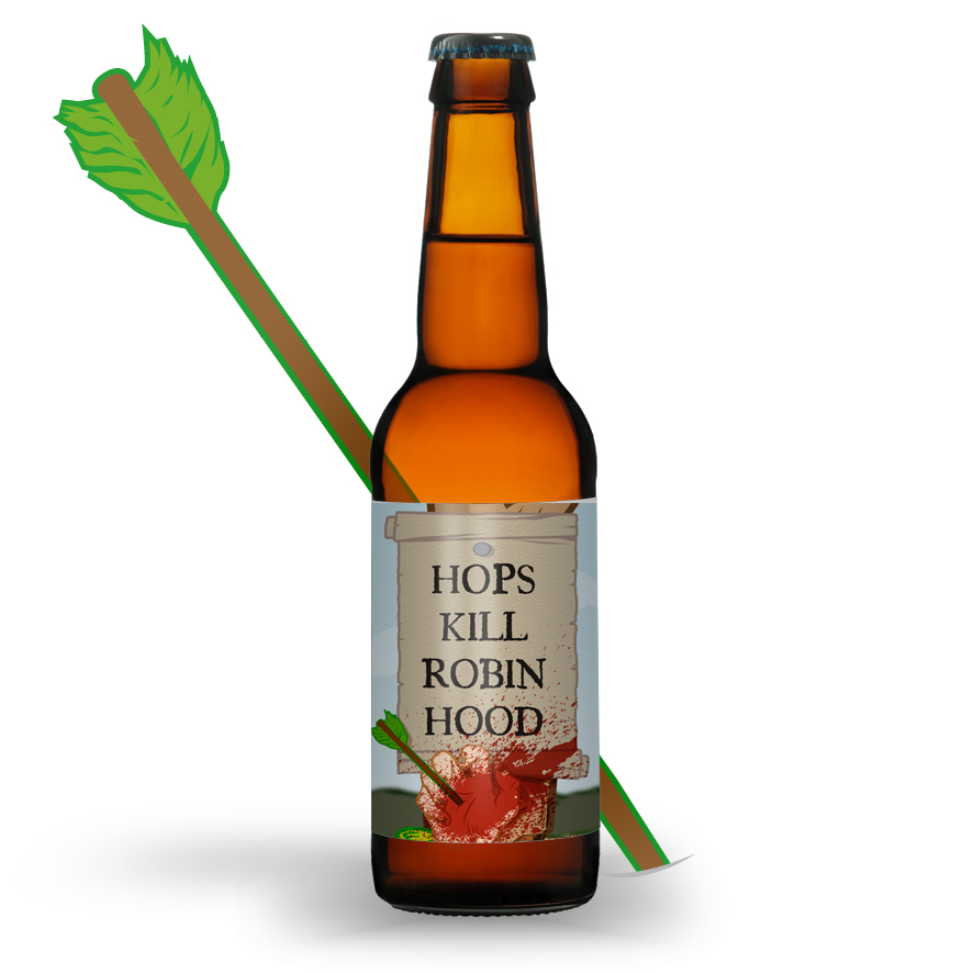 Hops Kill Robin Hood, a 7.8 per cent Imperial Red Ale brewed to end the 'shallow, brainless marketing' that is endemic in the British beer industry.
