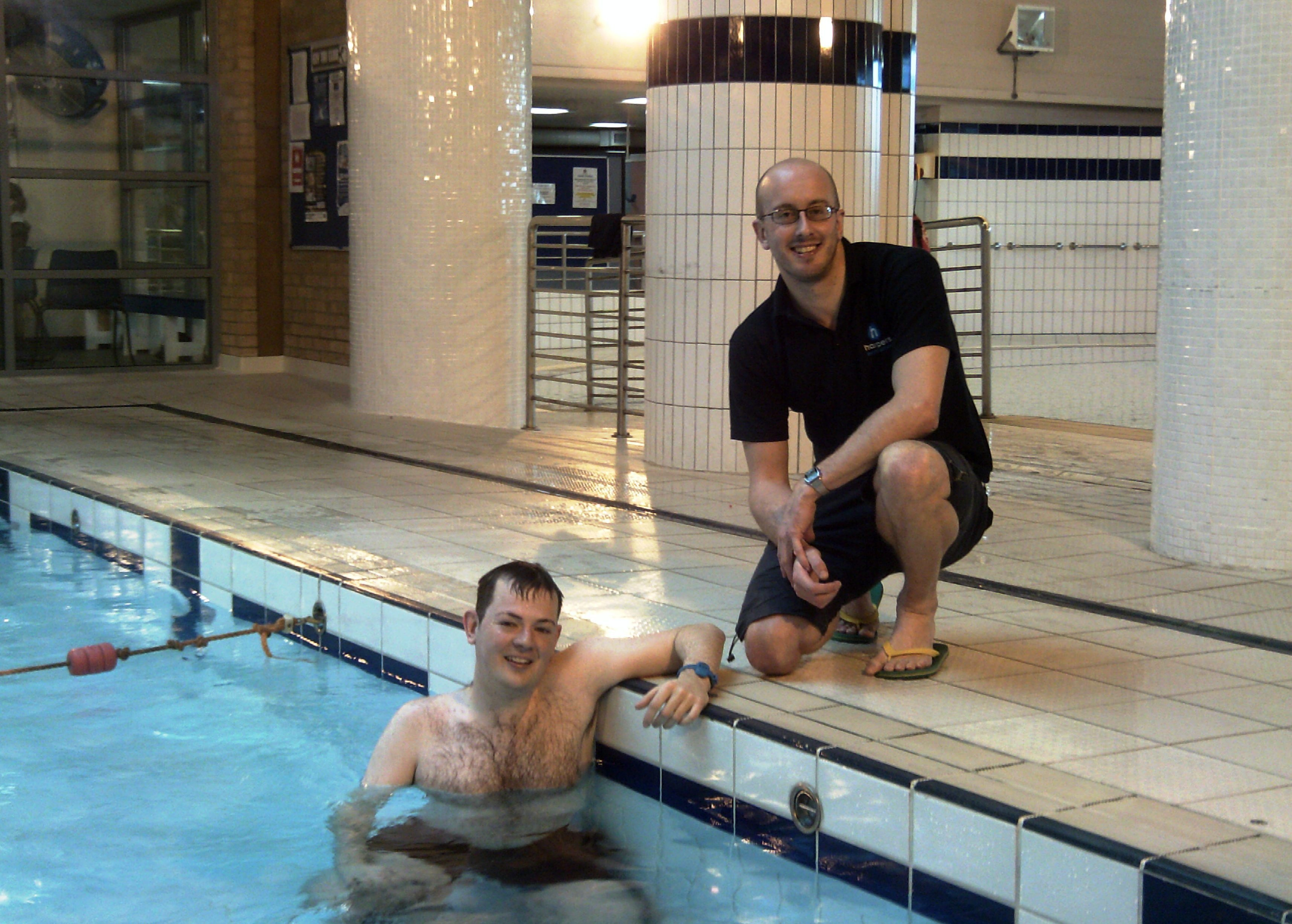Chris Bowns with Swimming Development Manager, Simon Clasby