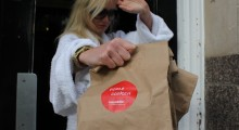 Celebs avoid the paparazzi and 'eat in' as new gourmet takeaway service becomes an A-list favourite.