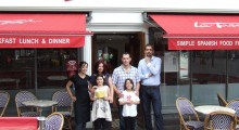Image: Lisa and family with her Gold Card.