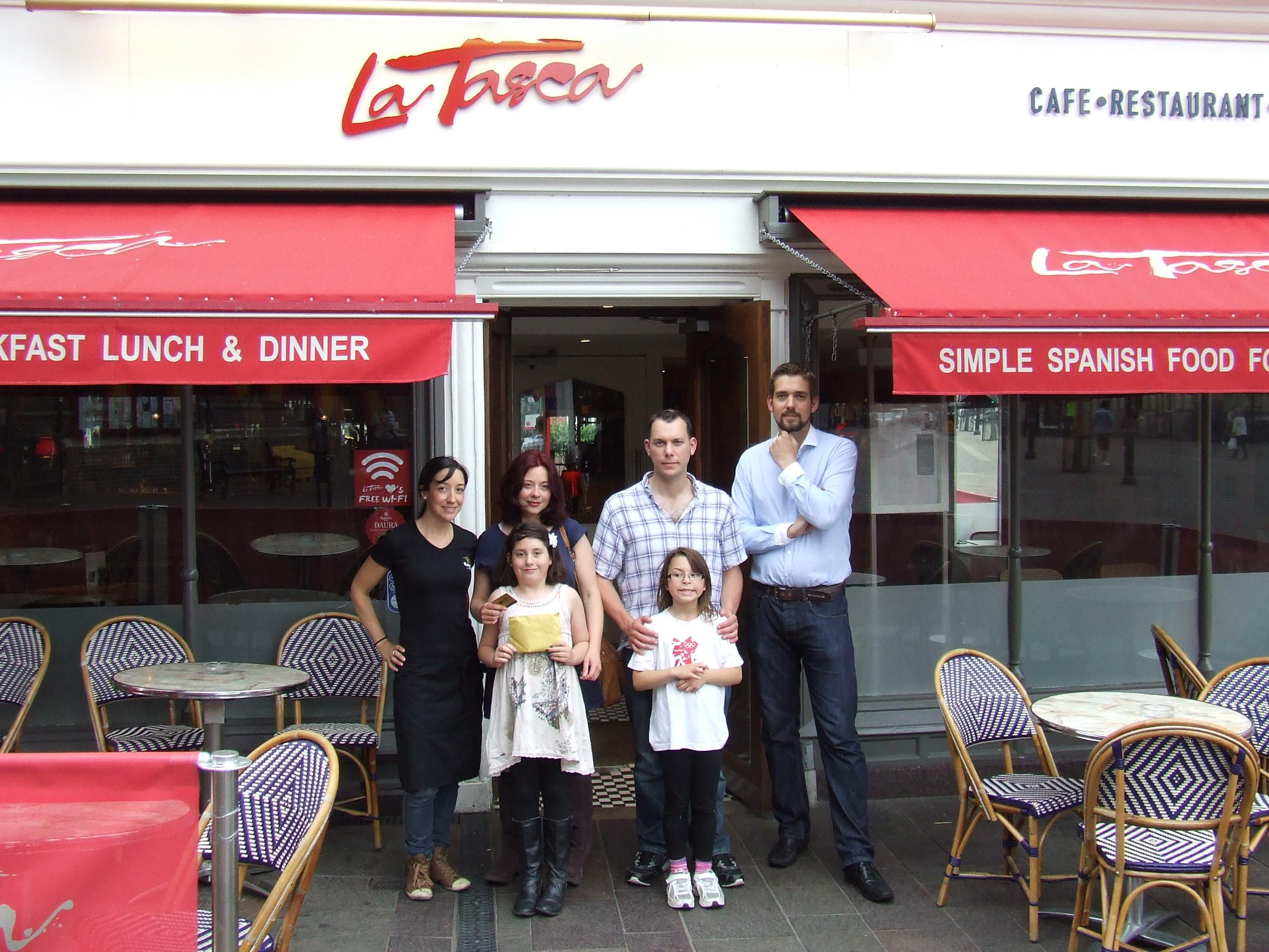 Lisa is one of 15 lucky winners from across the country to win a La Tasca Gold Card,