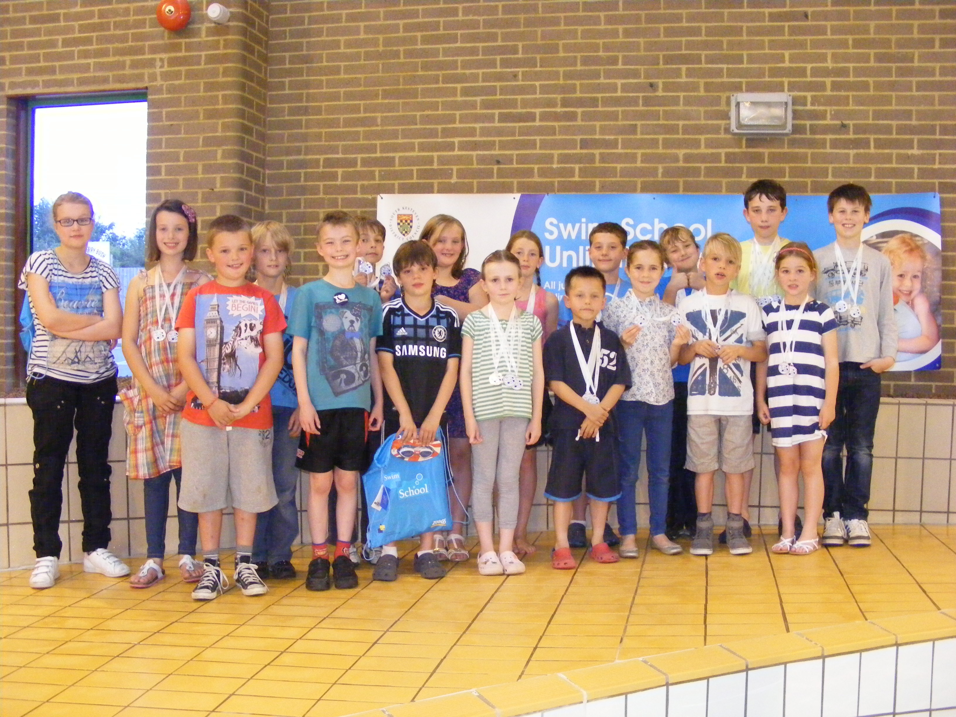 Medals were awarded for first, second and third place, as well as everyone receiving a reward for taking part