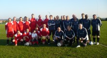 Local firm's charity football match raises £1000 for the Motor Neurone Disease Association