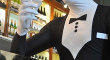 Fans hit Bond Street in tuxedo Morphsuits in honour of Skyfall release