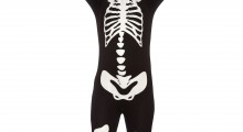 Kids skeleton morphsuit