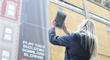 Disney takes over Brick Lane with Blippar 8 bit playable wall #8BitLane