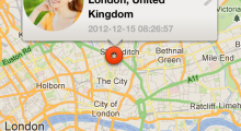 Automatic date/time and location mapping makes it easier to remember where you met someone