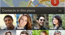 The 'Discover' area of CrumbTrail allows you to see where your contacts are