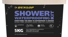 Dunlop Adhesives launches mid-summer offer on new and improved Shower Waterproofing Kit
