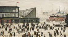 Going to the Match, L S Lowry