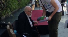 Artist Peter Blake at the Art Everywhere launch event