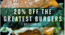Over 160 restaurants in the UK are backing National Burger Day with a 20% discount upon presentation of a National Burger Day voucher