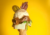 Do you want a flake in that? Burger Ice Cream on the menu for National Burger Day