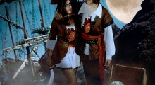 His and Hers zombie pirate costumes