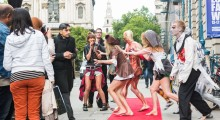 Londoners get a fright at Fashion Week - Morph Costume Co. Photo - Paul Clarke