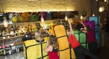 Blocked out: New Tetris costumes 'blocked' by bar as punters connect to reserve spaces