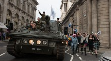 Equity for Punks launched on Thursday 20th June with founders James Watt and Martin Dickie driving a tank around the Bank of England with an army of beer fans in tow.