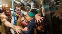 Halloween starts here: Morphsuits unleashes fright mob of horror to petrify unsuspecting Brits this October