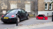 Parked at London's most expensive parking space