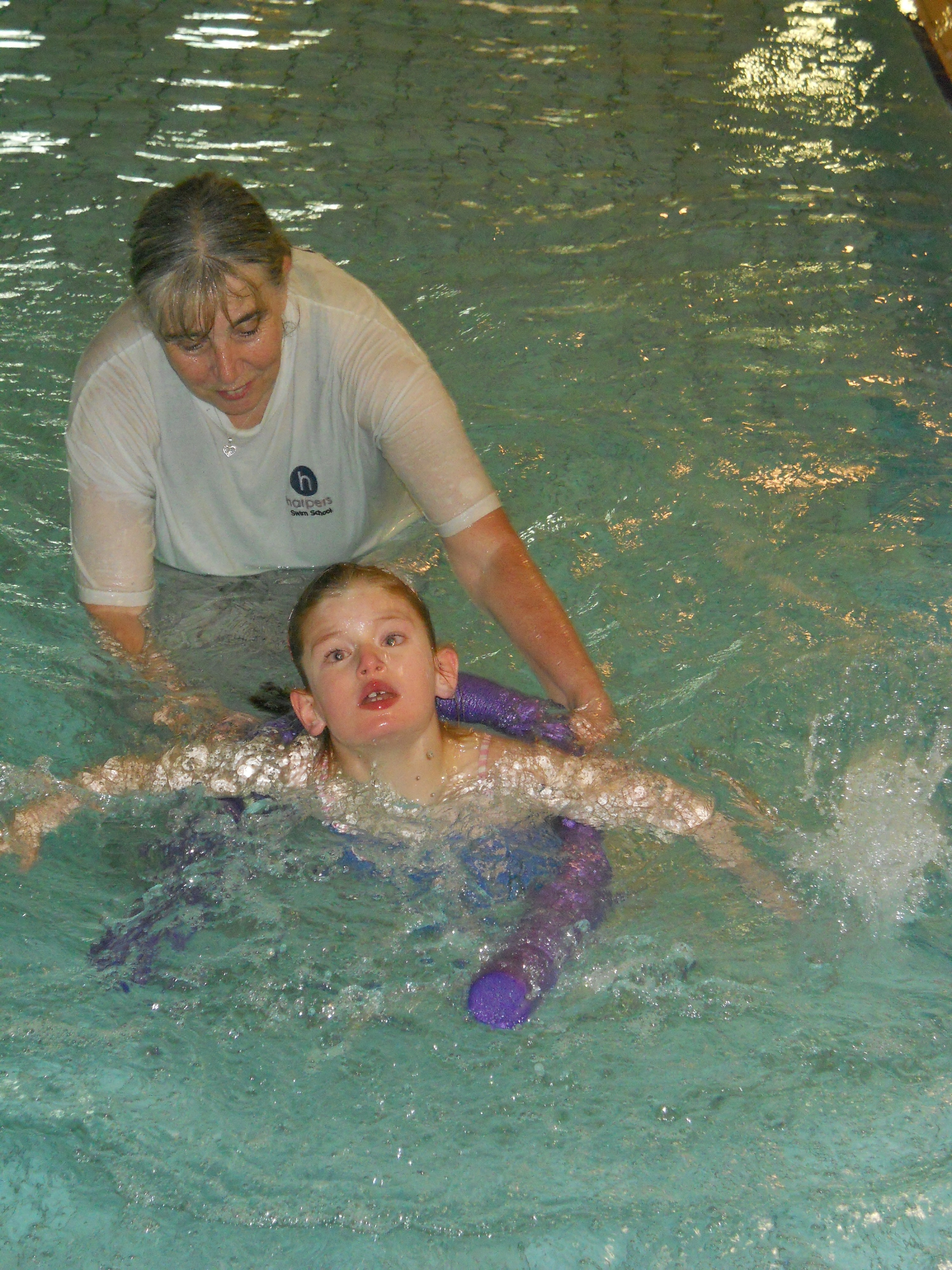 As a baby, Isabelle attended weekly swimming classes at Dorking Sports Centre and from an early age she loved being in water.