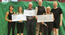 Local Leisure centre raises nearly £3,000 for trio of charities
