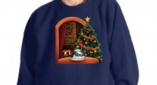 Snowing Snowglobe Christmas Sweater - white background