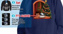 Snowing Snowglobe Christmas Sweater - 3 steps activation