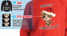 Caroling Kitty Ugly Christmas Sweater - 3 steps activation