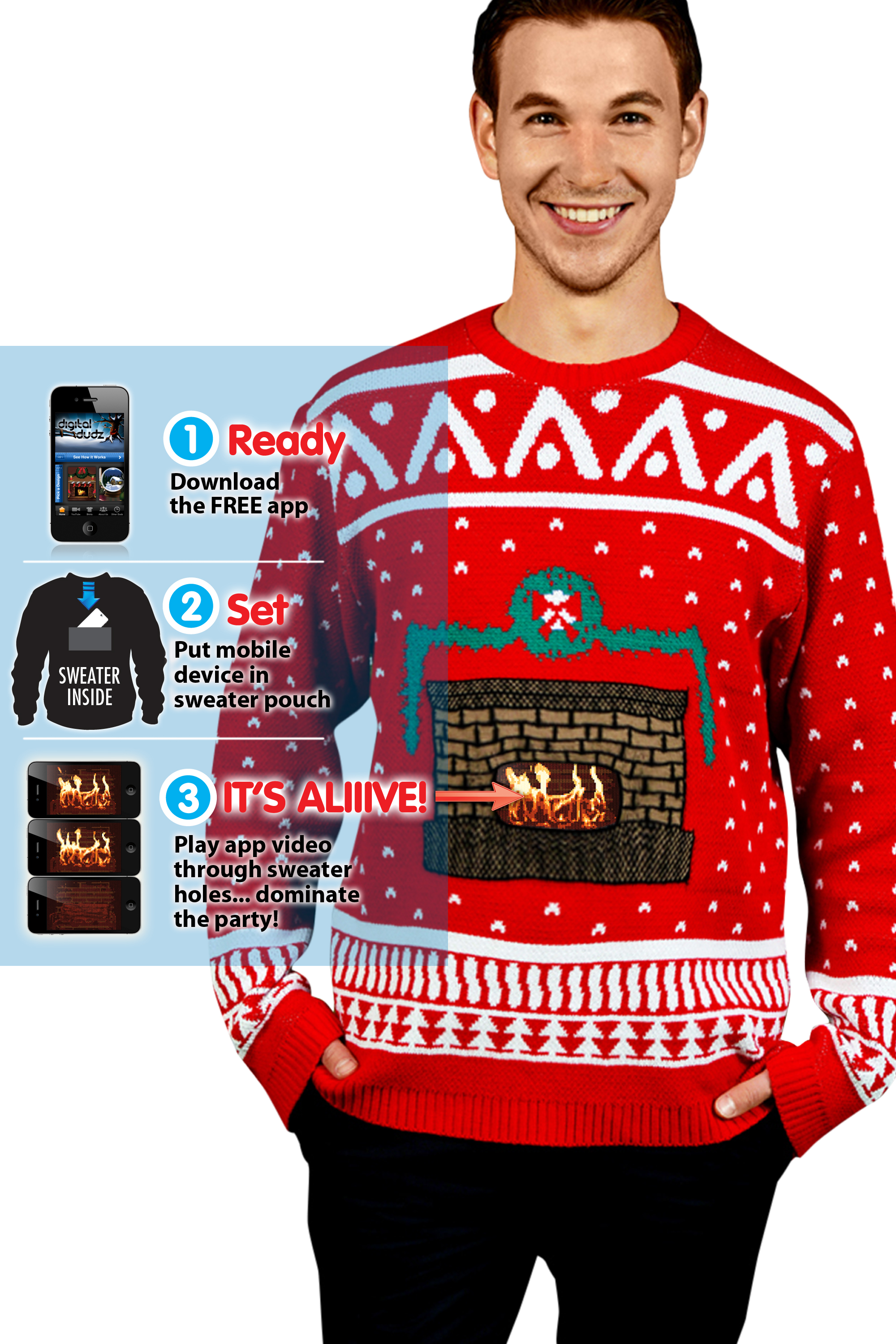 I'm dreaming of a digital Christmas: Christmas sweaters featuring ...