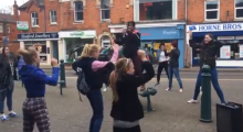 Flash mobs bring fitness to the streets of Lincolnshire!