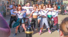 Flash mobs bring fitness to the streets of Worcester!
