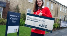 Local housing developer raises £200 to help build healthy hearts!