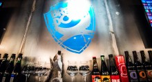Brew Dog Ropppongi Bar showcasing beers prized along the bar