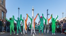 Paddy's day parade finale