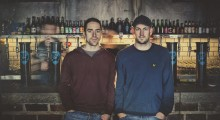 Martin Dickie (L) and James Watt, founders of BrewDog